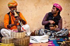 Rajasthan Land of Kings - Snake Charmers at Amber Fort near Jaipur