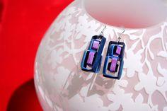 Handmade Quilling Earrings  Inter Boxes by TrendyJewelryStudio