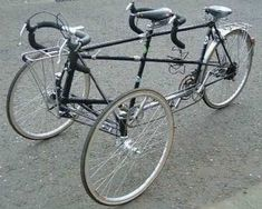 M. Steel Cycles Tandem Bicycle to Tandem Trike Convertible A Newton tandem tricycle conversion, but that's not all.... This was a job u...
