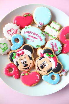 Mickey & Minnie Christmas cookies