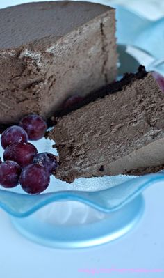 Gluten-Free Chocolate Mousse Cake ~ Sometimes we should indulge in something this yummy especially on festive occasions. Mousse cakes are always popular because of their smooth texture and delectable flavour, just add some frozen grapes as garnish. SUPER EASY GLUTEN-FREE RECIPE