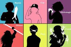 Percy Jackson, Annabeth Chase, Nico di Angelo, Clarisse la Rue, Ethan Nakamura, and Katie Gardener.