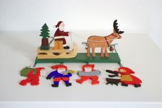 Vintage Scandinavian Wooden Christmas Decorations. by DeeGeeRetro on Etsy