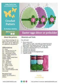 066 Eggs decor or potholder Amigurumi Crochet von LittleOwlsHut