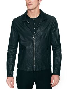 Coated Linen Jacket by John Varvatos Collection at Gilt