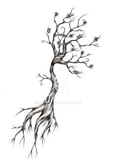 Tattoo Life, Dr Tattoo, Shape Tattoo, Tattoo Tod, Tree Roots Tattoo, Tree Tattoo Arm, Tree Branch Tattoo, Tree Back Tattoos, Tattoos Of Trees