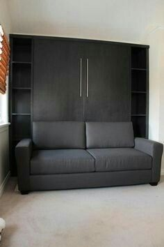 Decorate your room in a new style with murphy bed plans Cama Murphy, Murphy-bett Ikea, Tyni House, Horizontal Murphy Bed, Bedroom Furniture, Bedroom Decor, Modern Murphy Beds, Murphy Bed Plans, Bed Wall