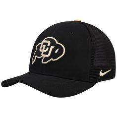 1cf5da8b68f Men s Nike Black Colorado Buffaloes Swoosh Performance Meshback Flex Hat