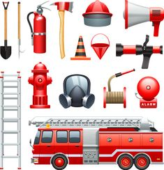 Fire element vector icons