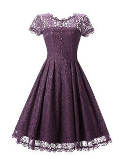 Women's A Shape Lace Fit and Flare Retro Floral Dresses #site:plussizemotherofthebridedresseshq.info