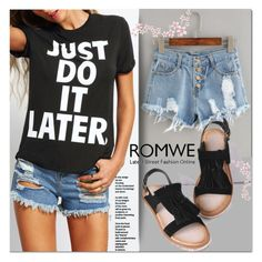 """Romwe 7/3"" by azra-v ❤ liked on Polyvore"