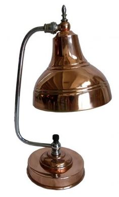 Markel American Art Deco Copper and Chrome Table Lamp.
