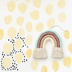 Lemon rainbow #watercolor #rainbow #nursery Mobiles, Rainbow Nursery Decor, Bullet Journal Themes, Rainbow Art, Diy Baby, Nail Inspo, Baby Things, Rainbows, Lana