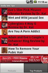 Sex tips app