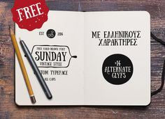 A new free hand-drawn font: Sunday. It's not too hard to imagine Edward Gorey penning this.