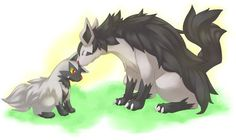 Poochyena and Mightyena. -- just raised my first level 100 from a level 5. Much strong. Very attach.