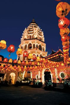 Malaysia Travel Inspiration - The amazing Kek Lok Si is the largest Buddhist Temple in South East Asia. Overlooking Georgetown, Penang, it is a spectacular cultural destination- especially at night! Malaysia Truly Asia, Malaysia Travel, Thailand Travel, Asia Travel, Malaysia Penang, Kuala Lumpur, Ipoh, George Town, Putrajaya