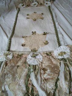 White burlap table runner romantic wedding by AnitaSperoDesign, $120.00