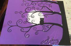 Purple owl tree