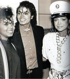 Janet Jackson, Michael Jackson, and La Toya Jackson (Circa 1984)
