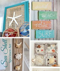 29 beach crafts: coastal diy wall art | beach crafts, diy wall art