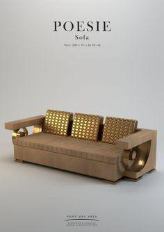 Poésie Sofa - Pont des Arts - Designer Monzer Hammoud - Paris -