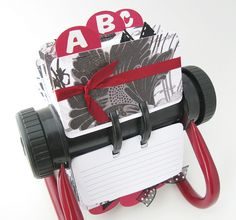 altered rolodex. i have one, will do that