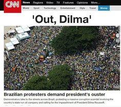 A @CNN DESTACA O #ForaDilma   #VemPraRua