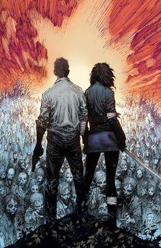 The Walking Dead comic book art