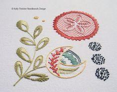 Shylock, a Modern Jacobean crewel hand embroidery pattern