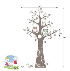 Three Owls and the Tree