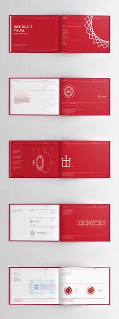 Color Flood / Layout / White on Color / Benício Lawyers Brand book by Adilson… Booklet Design, Book Design Layout, Design Poster, Print Layout, Brand Identity Design, Corporate Design, Branding Design, Web Design, Design Visual