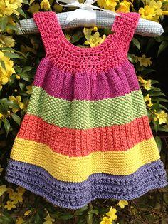Ravelry: YvieJane's Fiesta frock – Kinder Ideen - Crochet Crochet Baby Dress Free Pattern, Crochet Toddler Dress, Crochet Girls, Crochet Baby Clothes, Baby Knitting Patterns, Crochet For Kids, Knit Crochet, Tunic Pattern, Free Crochet