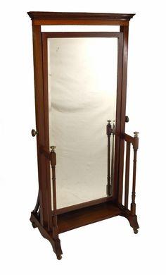 Dressing Mirror, Dressing Table, Cheval Mirror, Home Reno, Beveled Glass, Closet Ideas, Mirrors, 19th Century, Catalog