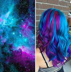 Galaxy hair color. <3