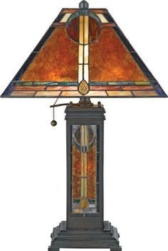 Quoizel NX615TVA San Gabriel 23-1/2-Inch 2-Light Table Lamp from the Museum of New Mexico Collection with Mica and Tiffany Glass Shade, Valiant Bronze, http://www.amazon.com/dp/B001EB6LTS/ref=cm_sw_r_pi_awd_kjWcsb1KGXJH8