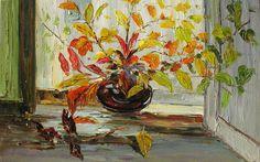 Original Oil Painting Autumn Palette Knife by ArtPaintingsMP