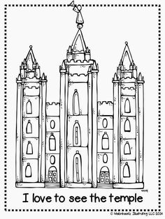 melonheadz lds illustrating i love to see the temple coloring page and salt lake - Coloring Packets