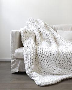 plaid tricot géant xxl
