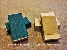 De tout et de rien: Activités pour le Préscolaire: Blocs à papier de verre pour suivre le rhytme!