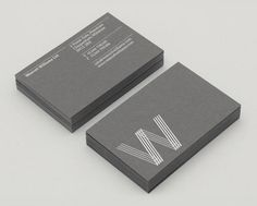 Silver / Grey business card design idea inspiration
