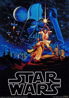 The very first Star Wars poster by Brothers Hildebrandt, 1976, before the film was introduced