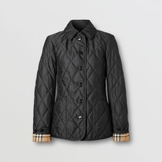 Quilted Jacket Outfit, Burberry Quilted Jacket, Burberry Jacket, Quilted Coats, Burberry Winter Coat, Diamond Quilt, Coats For Women, Black And Brown, Black Women