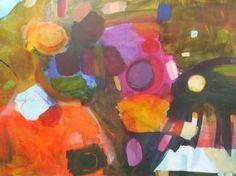 "Saatchi Art Artist Sarah Stokes; Painting, ""fun in the playground"" #art"