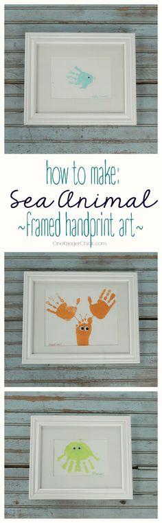 Sea Animal Framed Ha