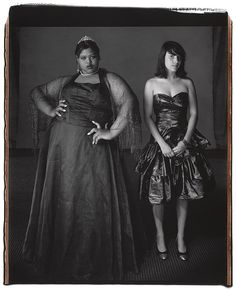 Jameelia Ricks and Marielle Evangelista, Ithaca High School Prom, June 2008 Polaroid Mary Ellen Mark's photo Mary Ellen Mark, William Klein, Polaroid, Diane Arbus, Prom Queens, Portraits, Contemporary Photography, Art Photography, We Are The World