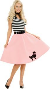 Pink Poodle Dress Costume Adult