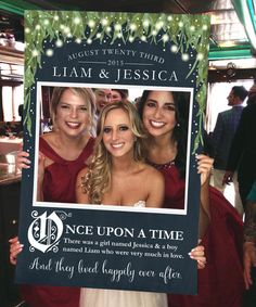 Enchanted Photo Prop - DIGITAL FILE - Fairy Tale Wedding Photo Prop - Bridal Shower Photo Prop - Photo Booth - Birthday Photo Prop Frame