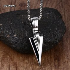 Striking Mens Necklaces Stainless Steel Vintage Spearhead Arrowhead Pendant Necklace for Men Special Surf  Bike Chocker Jewelry #electronicsprojects #electronicsdiy #electronicsgadgets #electronicsdisplay #electronicscircuit #electronicsengineering #electronicsdesign #electronicsorganization #electronicsworkbench #electronicsfor men #electronicshacks #electronicaelectronics #electronicsworkshop #appleelectronics #coolelectronics