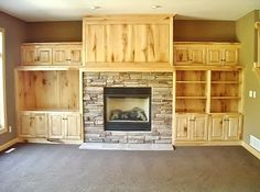 "Rustic styled entertainment center for the ""man cave""! Made By: Lakeside Cabinets and Woodworking"